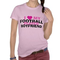 Football girlfriend tshirt from Zazzle.com