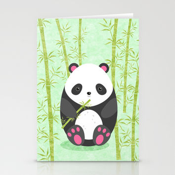 Panda Stationery Cards by EDrawings38