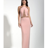 Mignon VM1432 Beautiful Beaded Pink Gown 2015 Prom Dresses