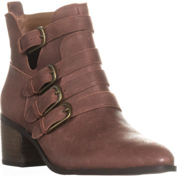 Lucky Brand Loreniah Buckle Ankle Boots, Sable, 8 US / 38 EU