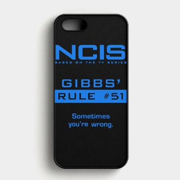 Ncis Gibbs Rule iPhone SE Case