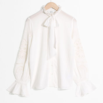 Tie Detail Blouse - Off White - Blouses - & Other Stories US