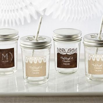 Personalized Mason Jar - Rustic Charm Wedding (Set of 12)