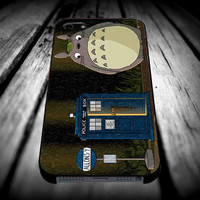 Totoro and Tardis Dr Who Give Umbrella for iPhone 4/4s/5/5s/5c/6/6 Plus Case, Samsung Galaxy S3/S4/S5/Note 3/4 Case, iPod 4/5 Case, HtC One M7 M8 and Nexus Case **