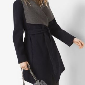 Double-Face Wool-Blend Cardigan | Michael Kors