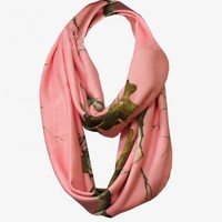 Realtree Girl AP Pink Infinity Scarf | Realtree Women's Camo Accessories