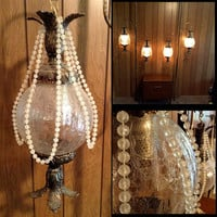 2 Matching Hollywood Regency Pole Lamps - Glitz - Glamour - Elegance - Unique - The Most Striking Lamps we've ever offered