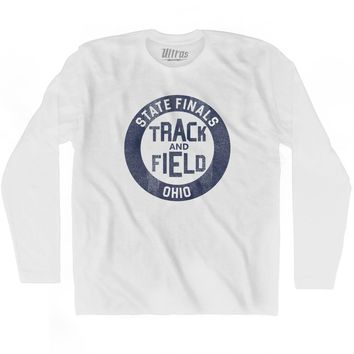 Ohio State Finals Track and Field Adult Cotton Long Sleeve T-shirt