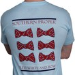 Red, White, and Bow Tee in Light Blue by Southern Proper