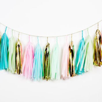 Garden party Tassel Garland