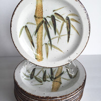 Vintage Midwinter Stonehenge Rangoon Bread and Butter Plates Set of 2