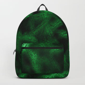 Green fantasy pattern Backpack by steveball