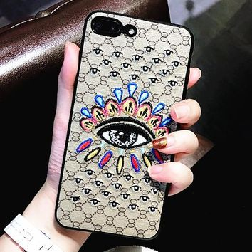 Fashion Embroider iPhone Phone Cover Case For iphone 6 6s 6plus 6s-plus