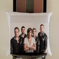 Sleeping With Sirens photo Pillow, Pillow Case, Pillow Cover, 16 x 16 Inch One Side, 16 x 16 Inch Two Side, 18 x 18 Inch One Side, 18 x 18 Inch Two Side, 20 x 20 Inch One Side, 20 x 20 Inch Two Side
