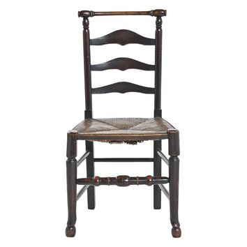 Pre-owned Rustic Ladder Back Chairs - A Pair