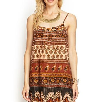 Contemporary Printed Drop-Waist Cami Dress