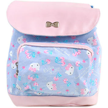 Hello Kitty backpack cherry children kids ☆ Sanrio entrance entrance kindergarten school bag series ★ kuroneko DM flights cannot be