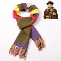 2 Styles Doctor Who Scarf Tardis Tassel Scaves Cosplay Props