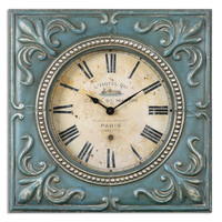 Canal St. Martin Square Wall Clock