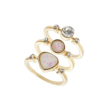 Pretty Stone Stack Rings | Missselfridge