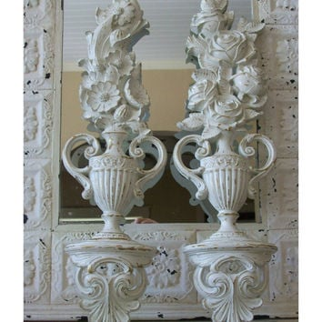 Wall Plaques  Set of 2  Home Decor  Shabby chic  Paris by 6miles