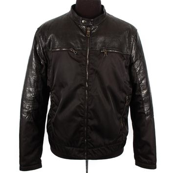 Prada Nylon and Leather Bomber
