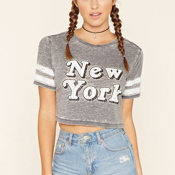 New York Graphic Burnout Tee
