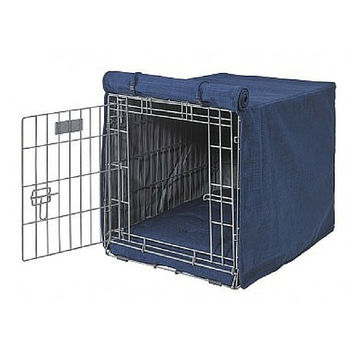MicroLinen Luxury Dog Crate Cover — Midnight