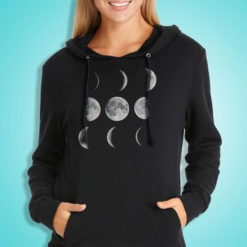 Moon Art Moon Phases Solar System Women'S Hoodie