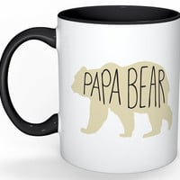Papa Bear Mug, Dad Mug, Bear Mug, Gifts for Dad, Grandpa Gift, Mugs for Grandpa, Grandfather Gift, Mugs for Him, Fathers Day Gifts