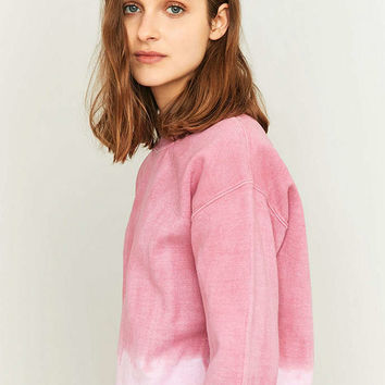 BDG Pink Ombre Crew Neck Sweatshirt - Urban Outfitters