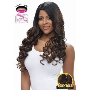 LACE FRONT LONG CURLY WIG, BANANA SHAPE PART (LBP19)