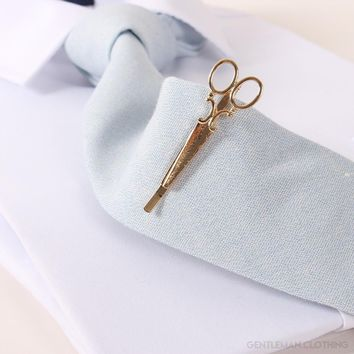 Men's Vintage Scissors Tie Bar/Clip
