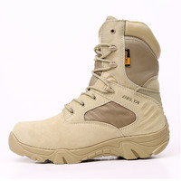Hot Deal On Sale Hot Sale Leather High-top Waterproof Camping Boots [6632624007]