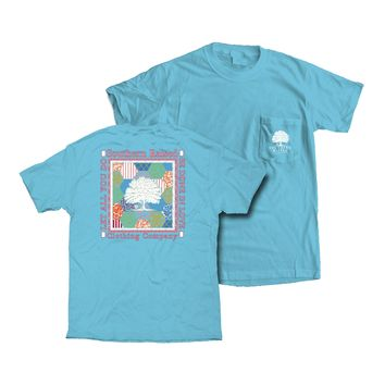 """Southern Raised """"Quilt"""" Tee on Comfort Colors"""