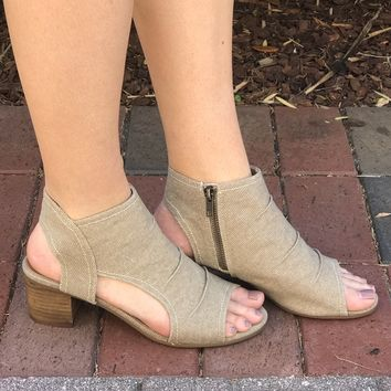Anywhere With You Heels- Taupe