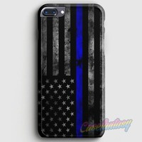 Police Blue Line Flag iPhone 7 Plus Case | casescraft