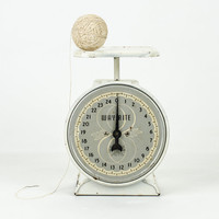 Antique White and Gold Wayrite Scale