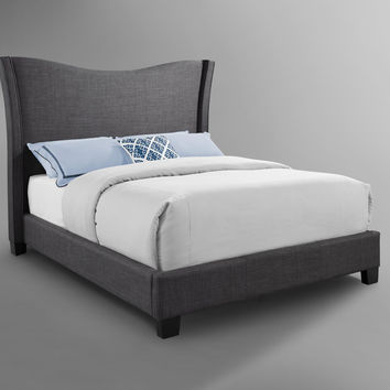 Carbon Grey Upholstered Bed
