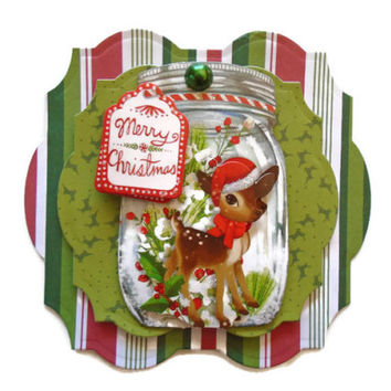 Scrapbook embellishment, Christmas, 3D handmade, Paper piecing, gift tags, Layouts, Cards, Albums, smash book, journal, Crafts