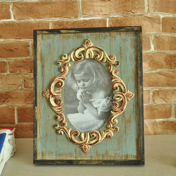 Weathered Vintage Pastoral Style Home Accessory Creative Gifts Photo Frame [6282843206]