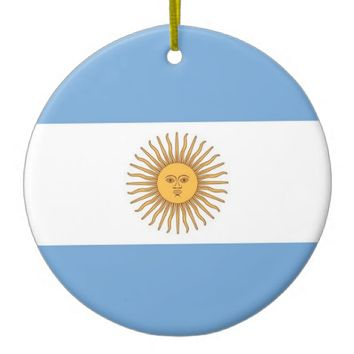 Ornament with flag of Argentina