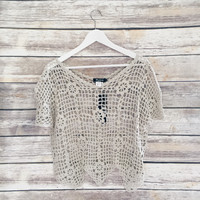 Beige Crochet Top