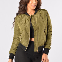 Freestyle Bomber Jacket - Olive