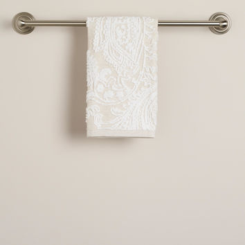 Alexandra Linen Flower Hand Towel - World Market