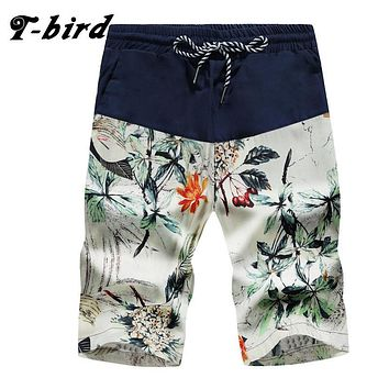 T-Bird 2017 Mens Shorts Casual Bermuda Brand Compression 8 Color Male Cargo Shorts Men Linen Fashion Men Short Summer Hawaii 3XL