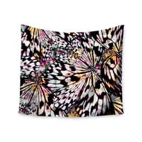 "Louise Machado ""Butterfly Wings"" Black White Wall Tapestry"
