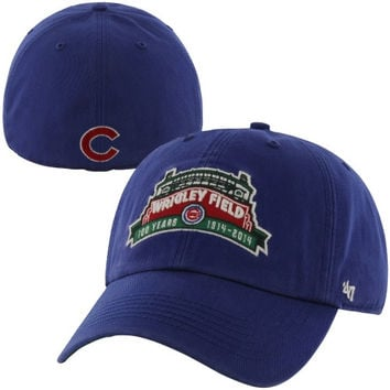 47 Brand Chicago Cubs Wrigley Field 100 Years Marquee Fitted Hat - Royal Blue