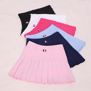 Harajuku Women Ball Pleated Skirts School Style Uniform 2017 Spring Summer Plus Size Korean Girls A-line High Waist Mini Skirts