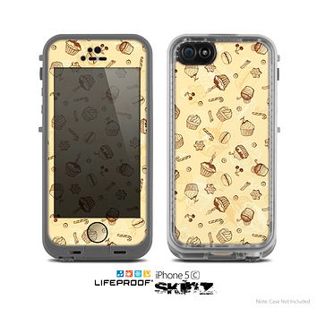 The Tan Treats N' Such Skin for the Apple iPhone 5c LifeProof Case